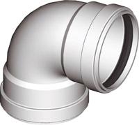 Колено алюминевое 90° EL AL 90°  Ø 80(F/F) для раздельных дымоходов