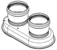 Адаптер для прехода на раздельную систему (UNICAL) для настенных газовых котлов  RöDA (Италия)