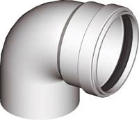 Колено алюминевое 90° EL AL 90°  Ø 80(M/F) для раздельных дымоходов